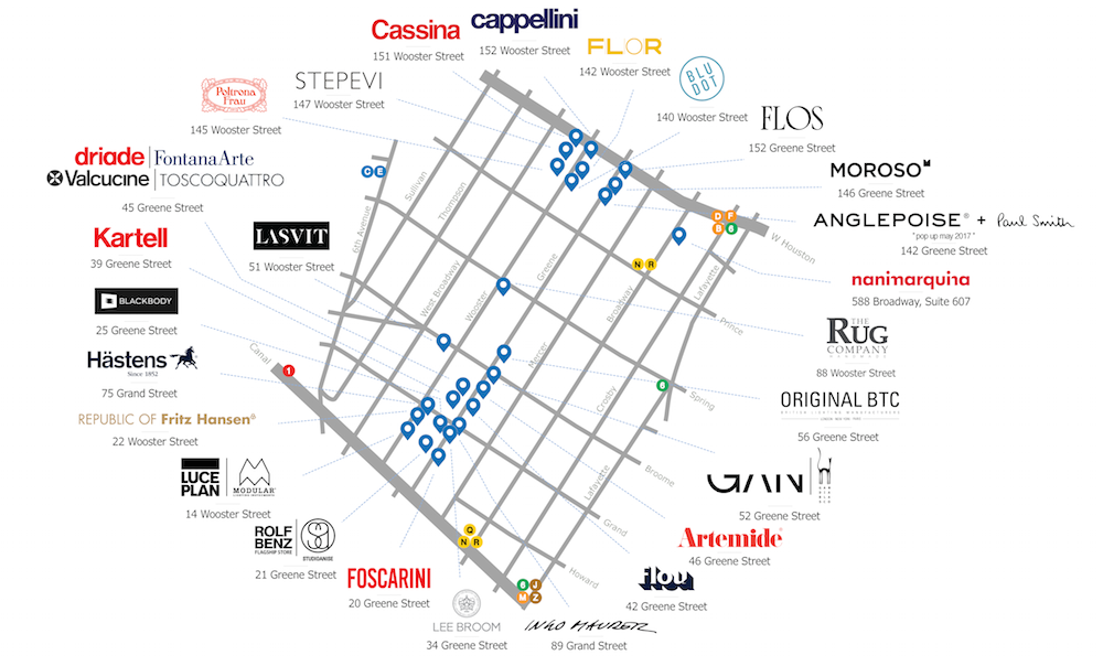 Download A Map Of Showrooms